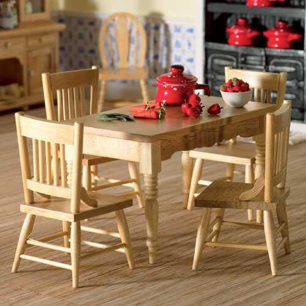 The dolls house emporium kitchen table four chairs workwithnaturefo