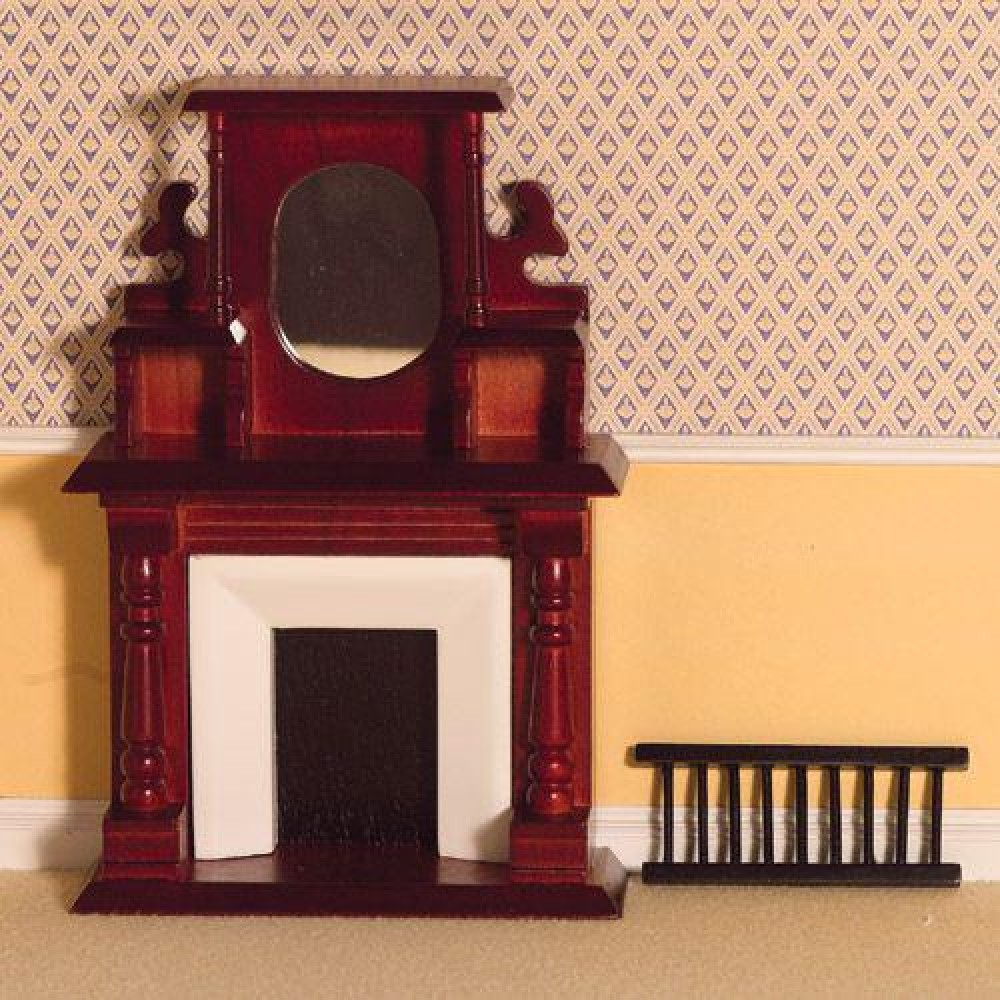 the dolls house emporium victorian fireplace with overmantel