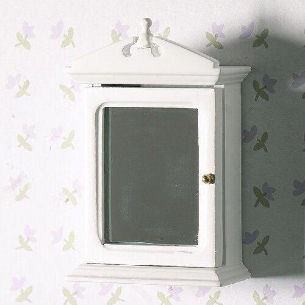 the dolls house emporium white bathroom cabinet with mirror