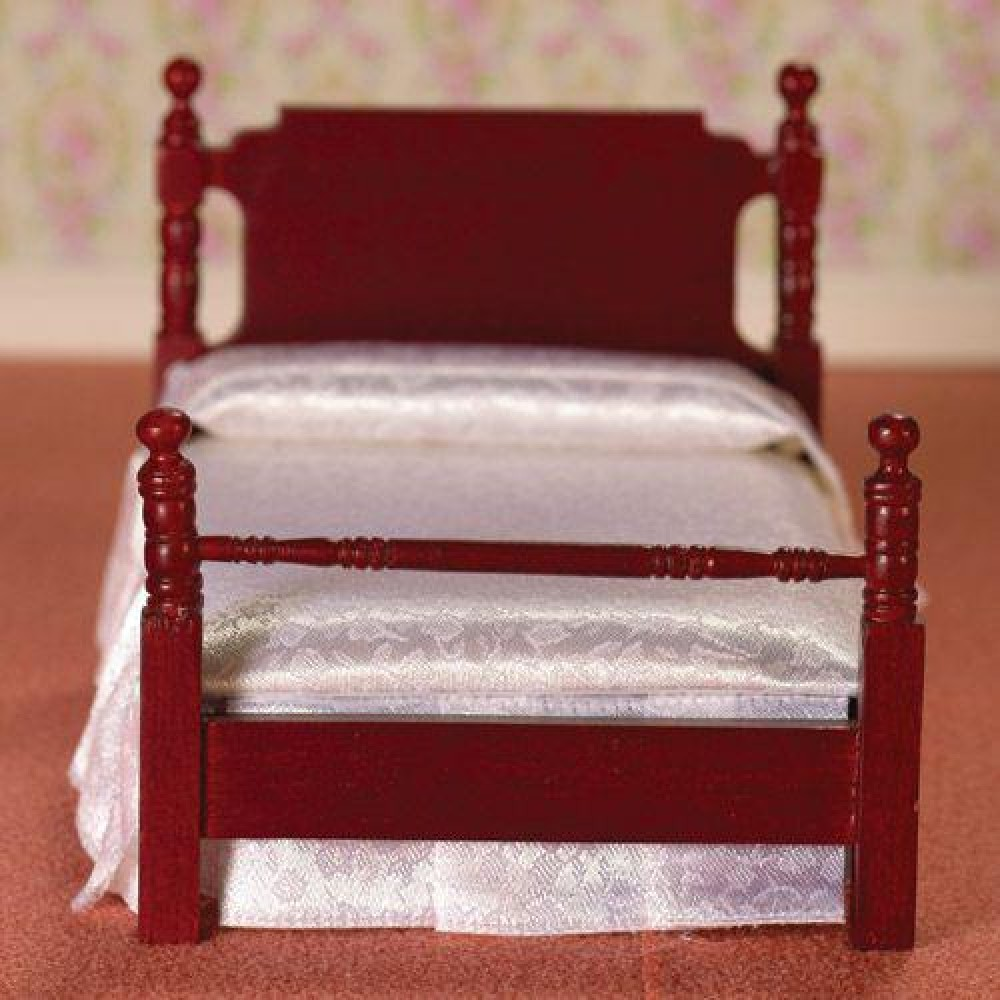 The Dolls House Emporium Victorian Mahogany Single Bed