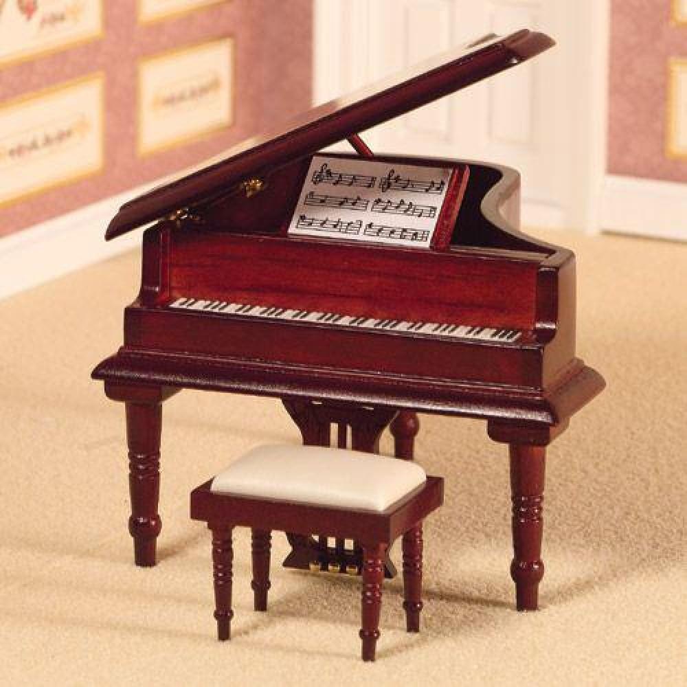The Dolls House Emporium Classical Grand Piano Amp Stool