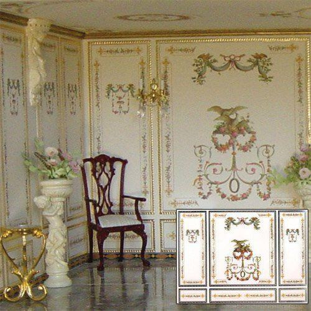 The Dolls House Emporium Floral Swags Wallpaper
