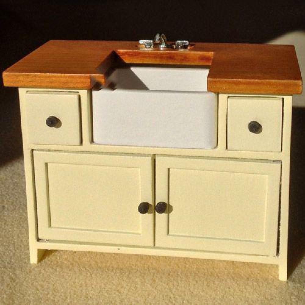 the dolls house emporium cream shaker-style sink unit
