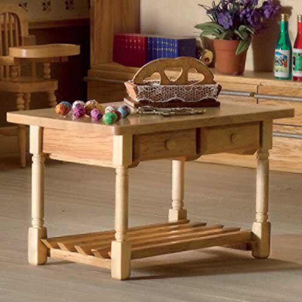 Kitchen Table Drawers: The Dolls House Emporium Kitchen Table With Drawers