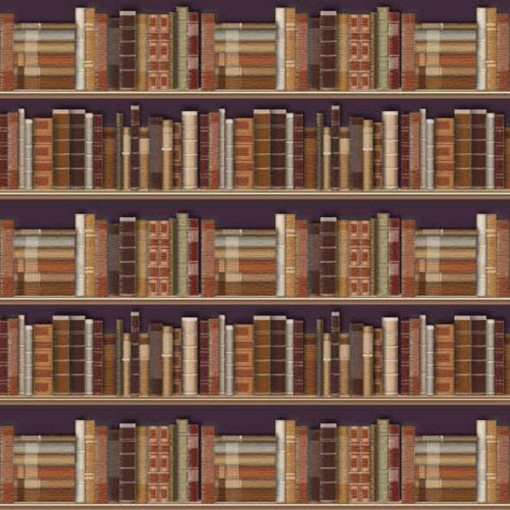 The Dolls House Emporium Traditional Bookcase Wallpaper