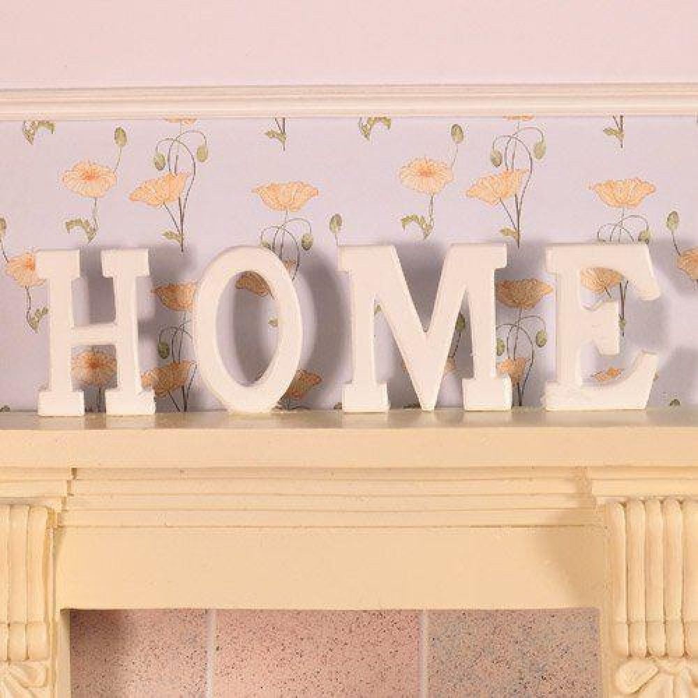 The Dolls House Emporium Home Letters In Wood 4 Pcs