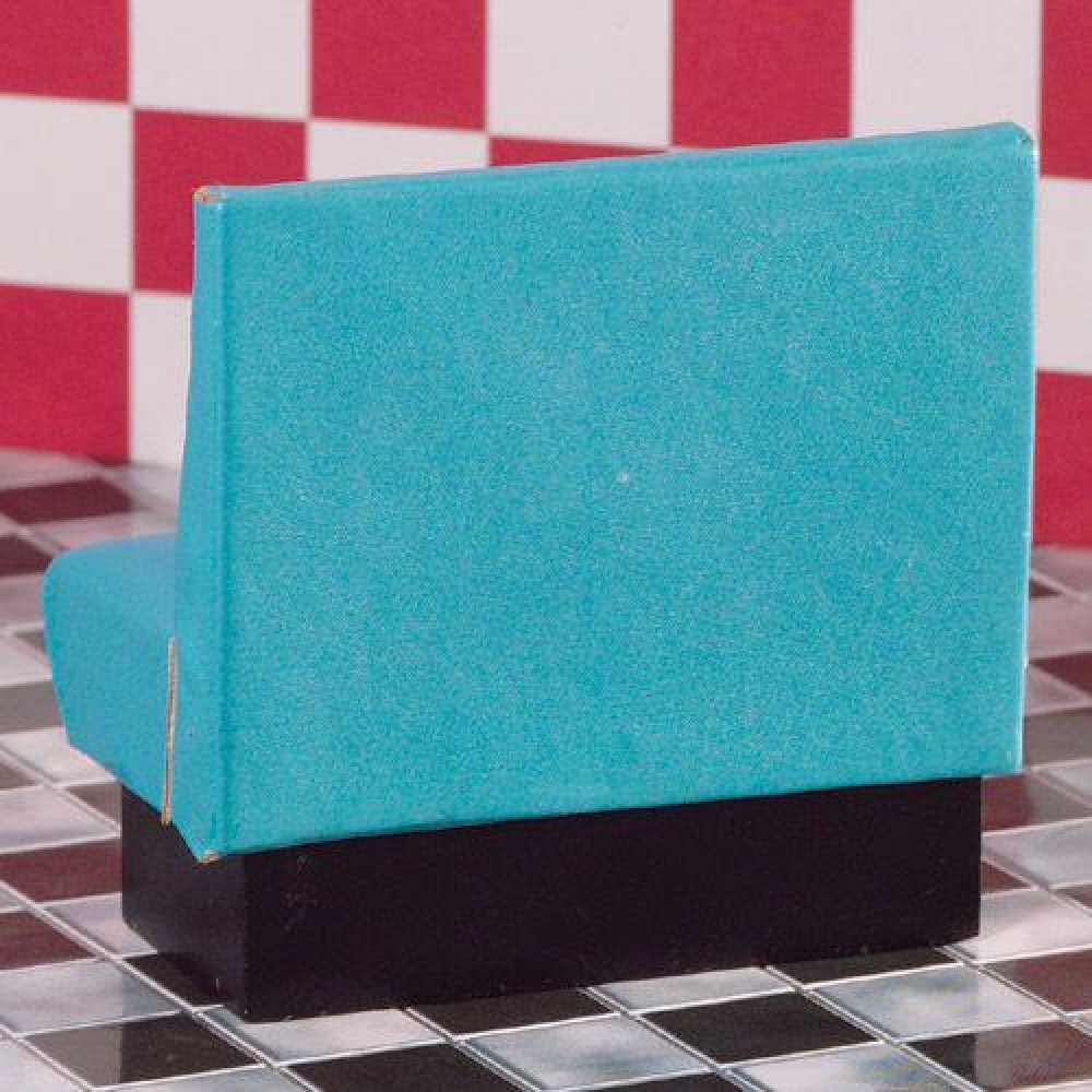 The Dolls House Emporium Turquoise Diner Seat Bench
