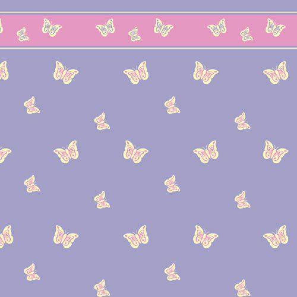 The Dolls House Emporium Lilac Butterfly Wallpaper