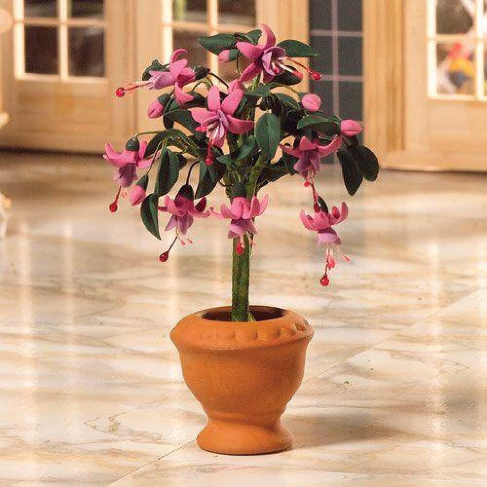 The Dolls House Emporium Standard Fuchsia Plant 110mm