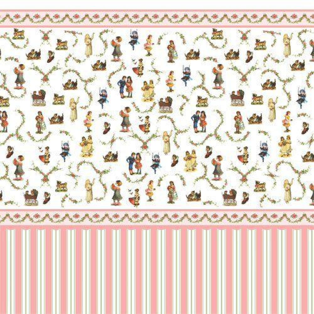 The Dolls House Emporium Victorian Nursery Wallpaper