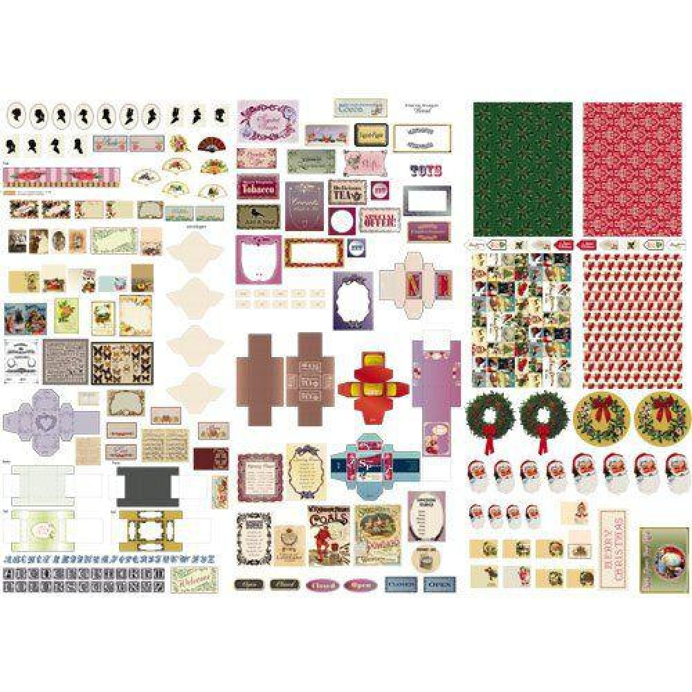 Dollhouse Printables: The Dolls House Emporium Victoriana Cut-out Sheet