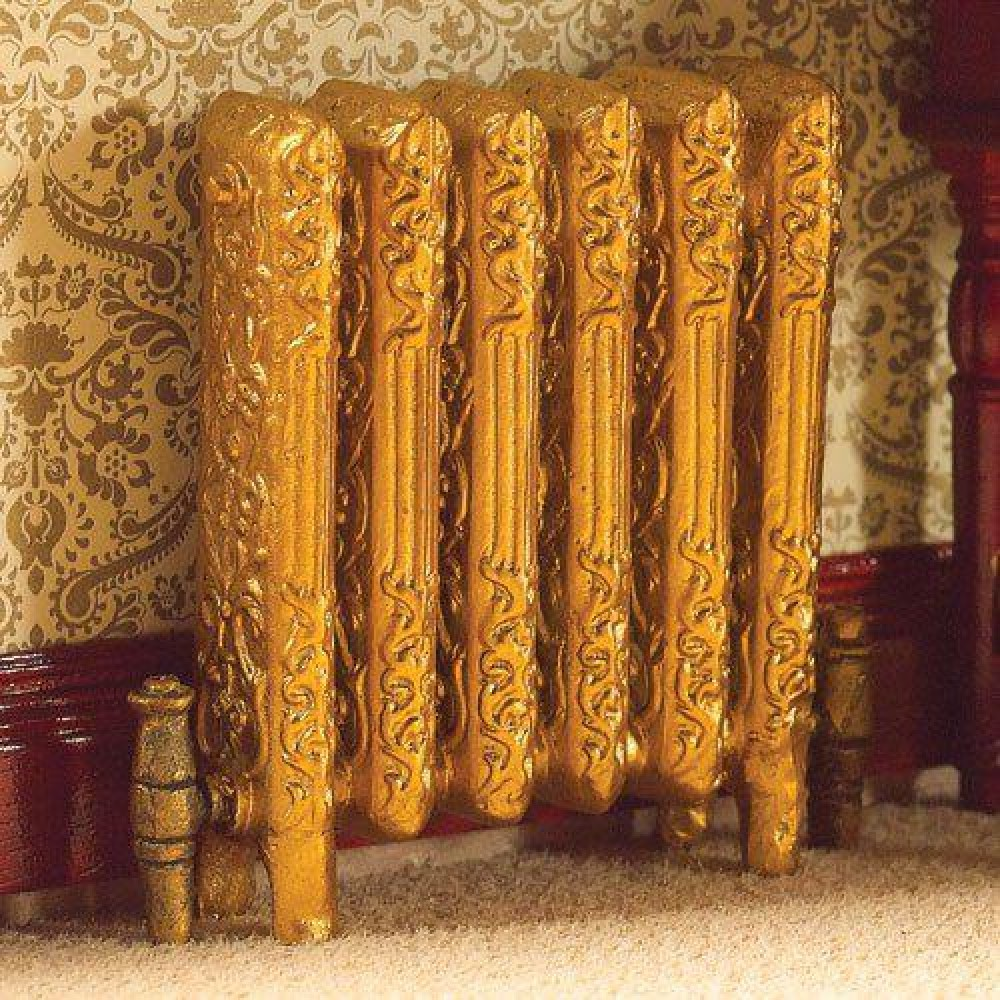 1//12th Scale Vintage Style /'Gold/' Radiator.