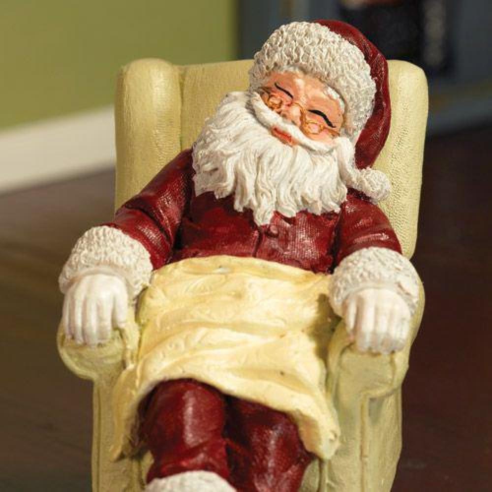 The Dolls House Emporium Sleeping Santa In Chair