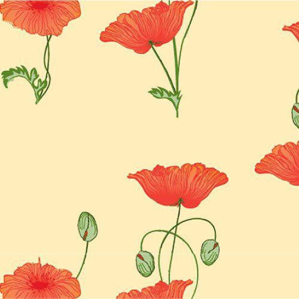 The Dolls House Emporium Red Poppy Wallpaper