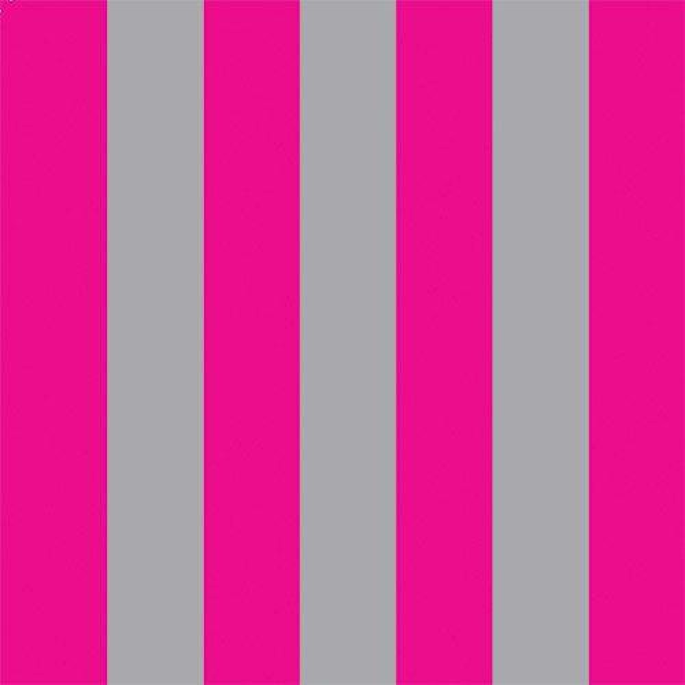 The dolls house emporium bright pink silver stripe wallpaper for Bright pink wallpaper uk