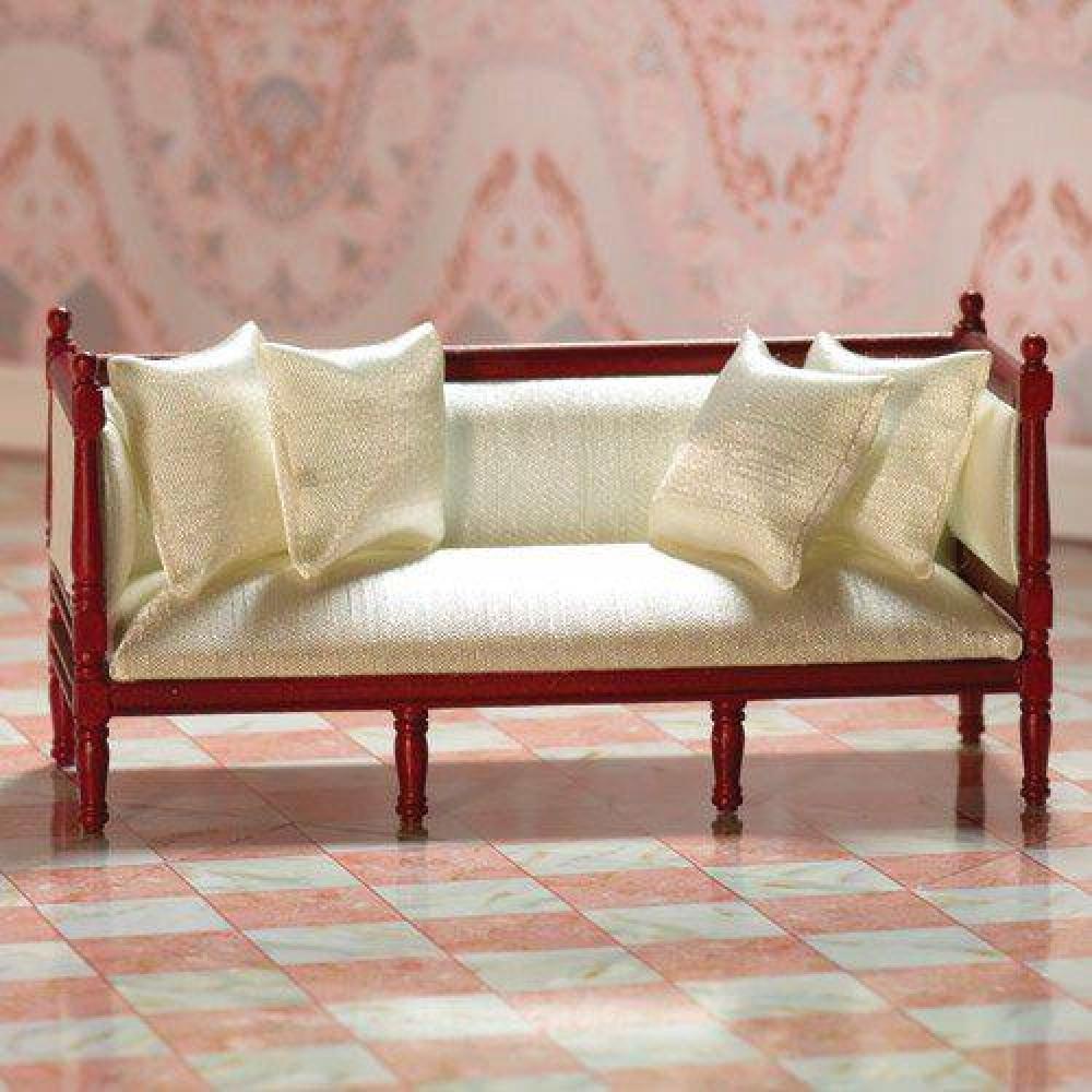 The Dolls House Emporium Cream Silk Louis Xvi Sofa