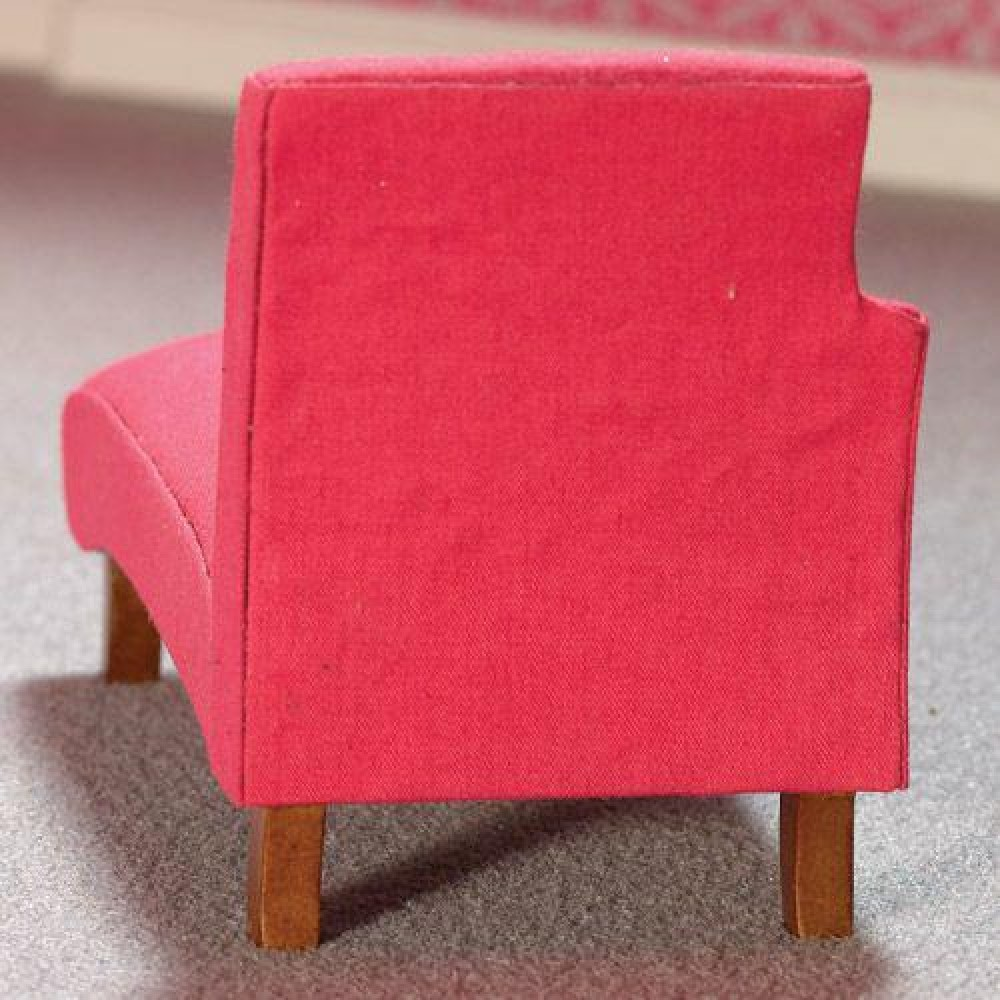 The Dolls House Emporium Shocking Pink Chaise Longue