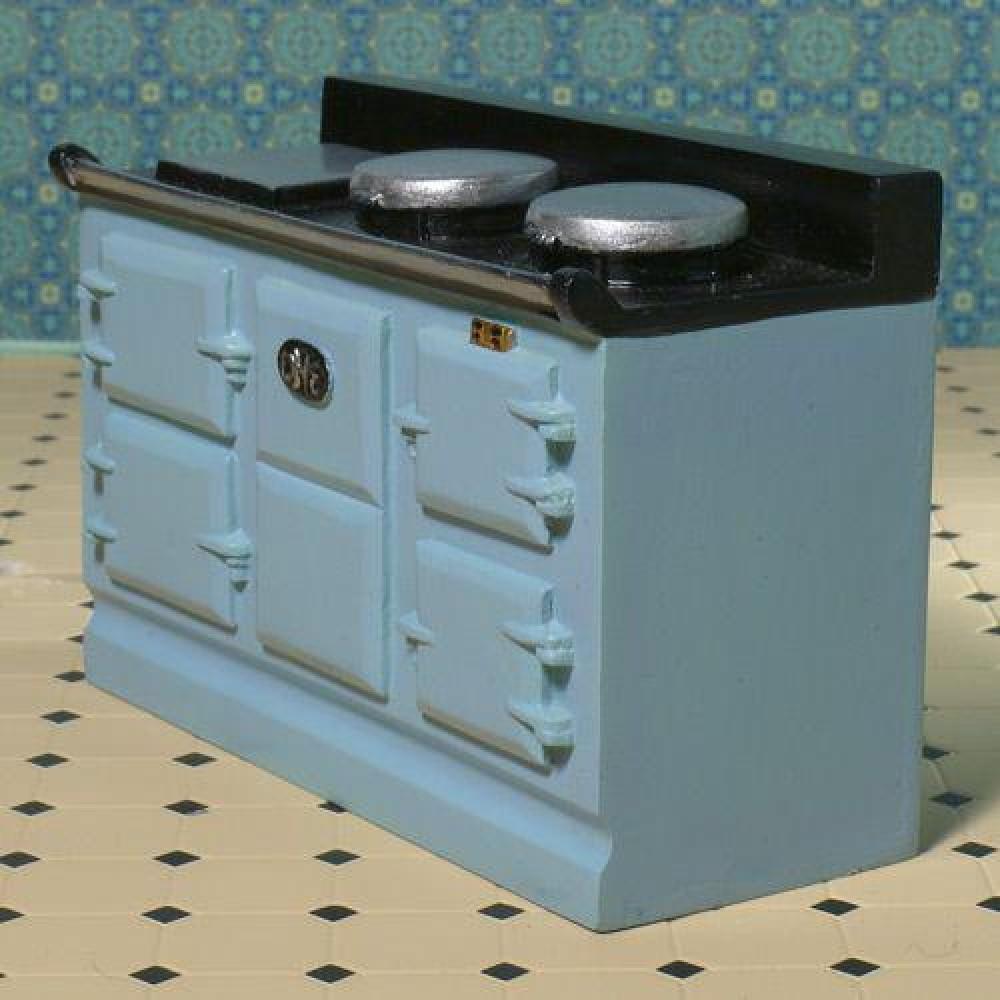 the dolls house emporium light blue aga style stove