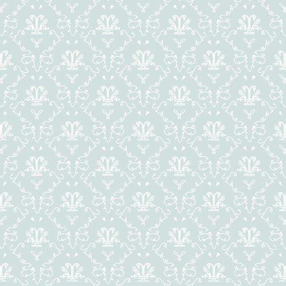 The Dolls House Emporium Bleu French Toile Wallpaper
