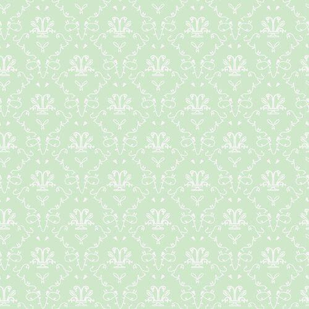 The Dolls House Emporium Vert French Toile Wallpaper