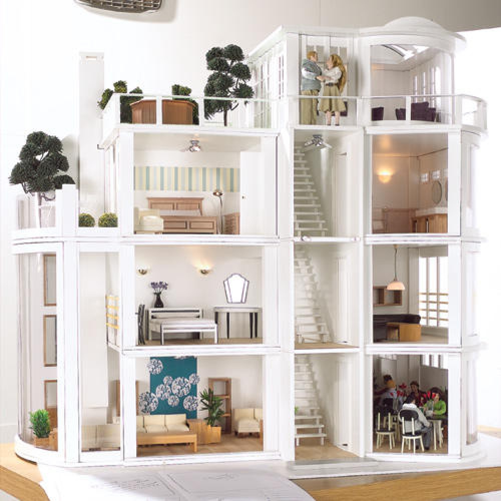 The Dolls House Emporium Malibu Beach House Kit - Dolls house interior