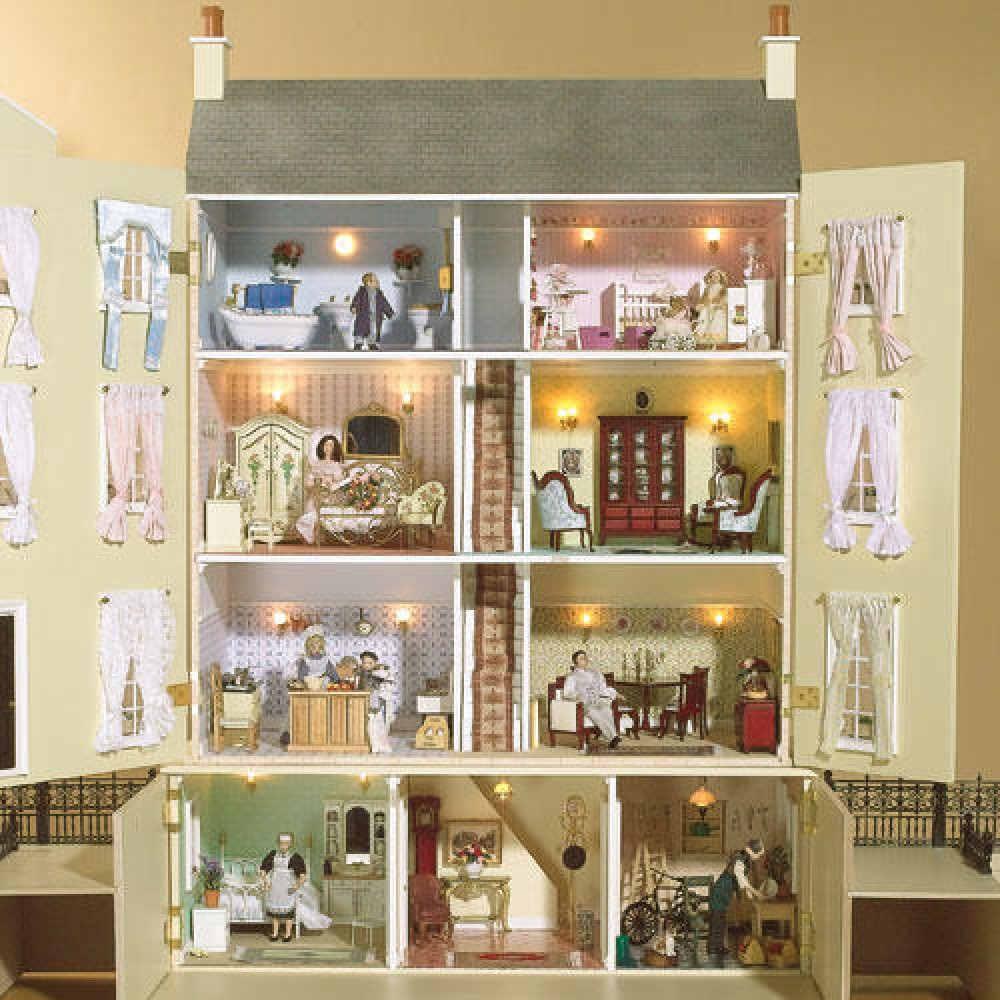 dolls house interior.  Wentworth Court Dolls House Kit The Emporium