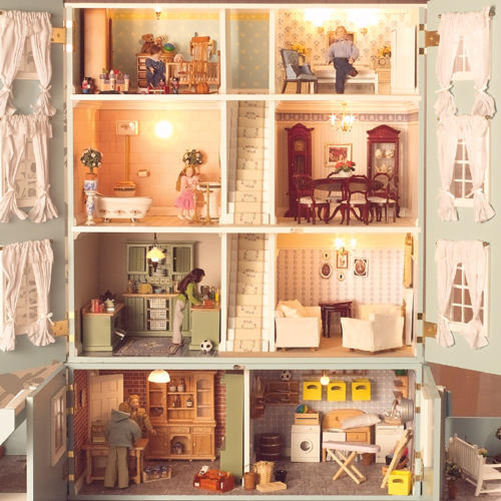 The dolls house emporium the classical dolls 39 house quickstyle - Dolls house interior ...