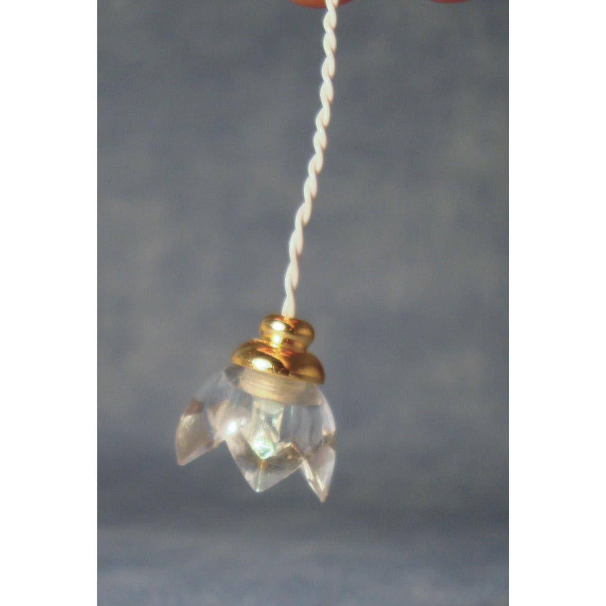 streets ahead battery powered clear lily ceiling light