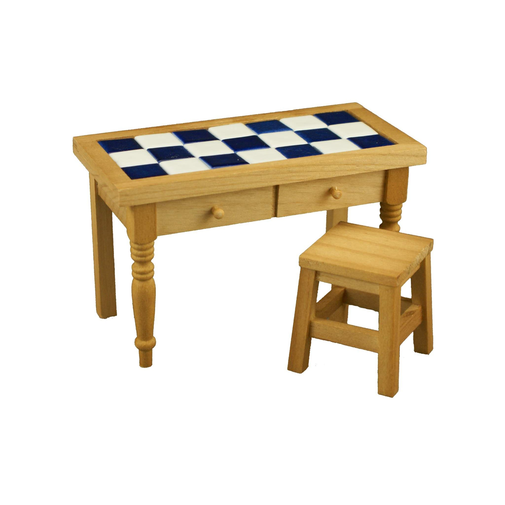 Reutters Kitchen Table With Tiles