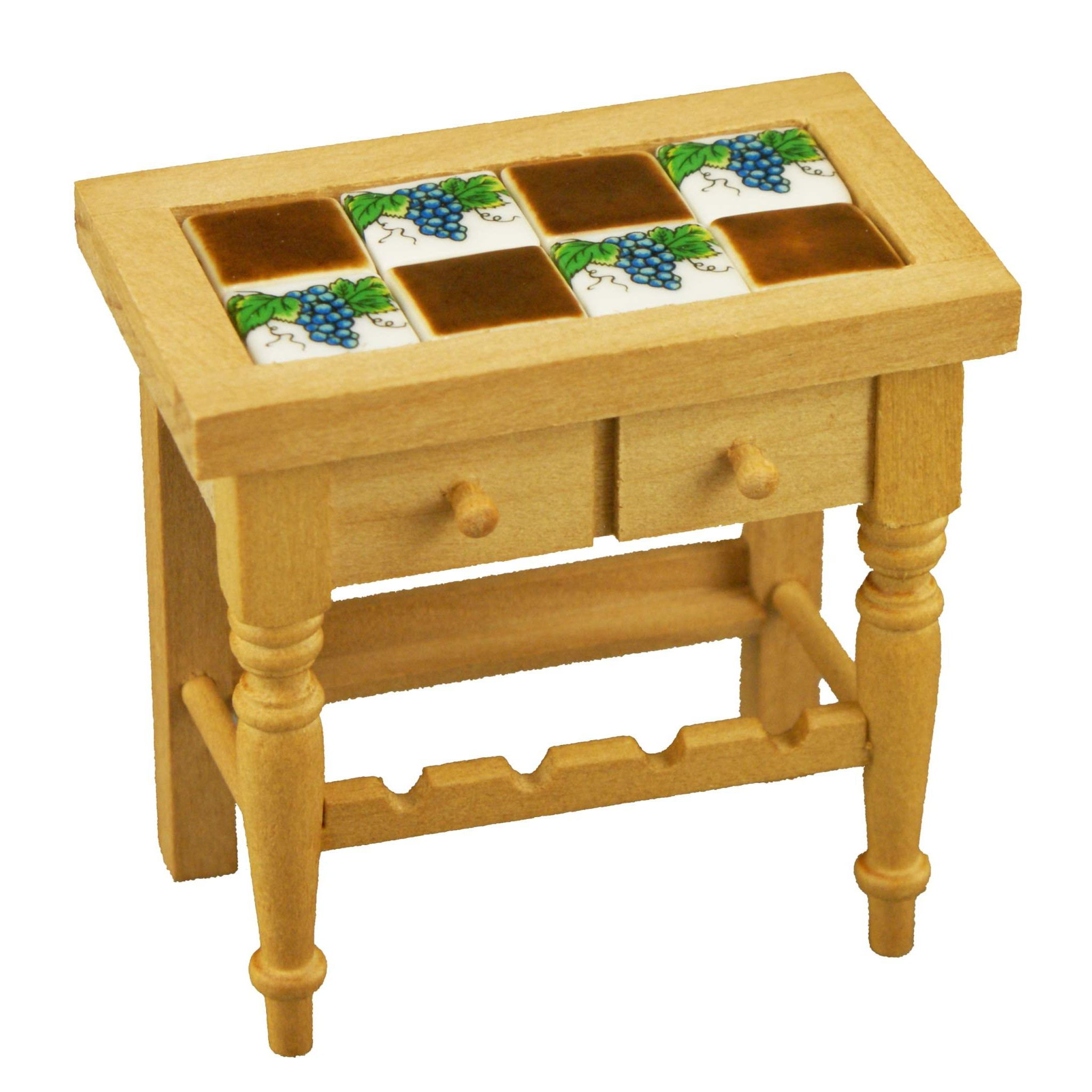 Reutters Kitchen Wine Table With Tiles