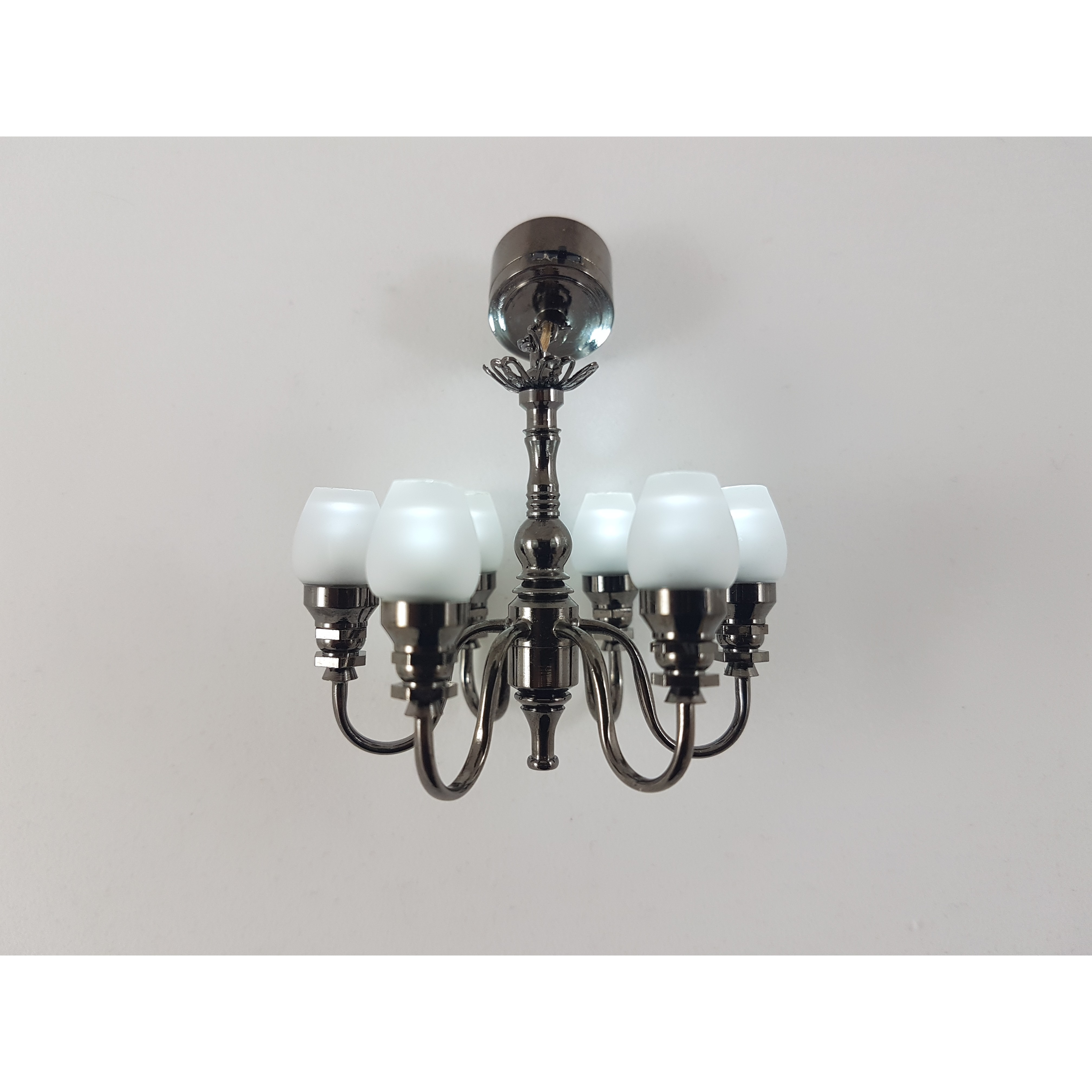 Carl schmeider bright led 6 light tulip chandelier aloadofball Image collections