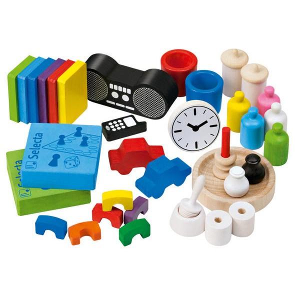 Selecta spielzeug miniature household set