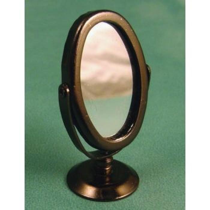 Streets ahead oval silver swivel mirror for Oval swivel bathroom mirror