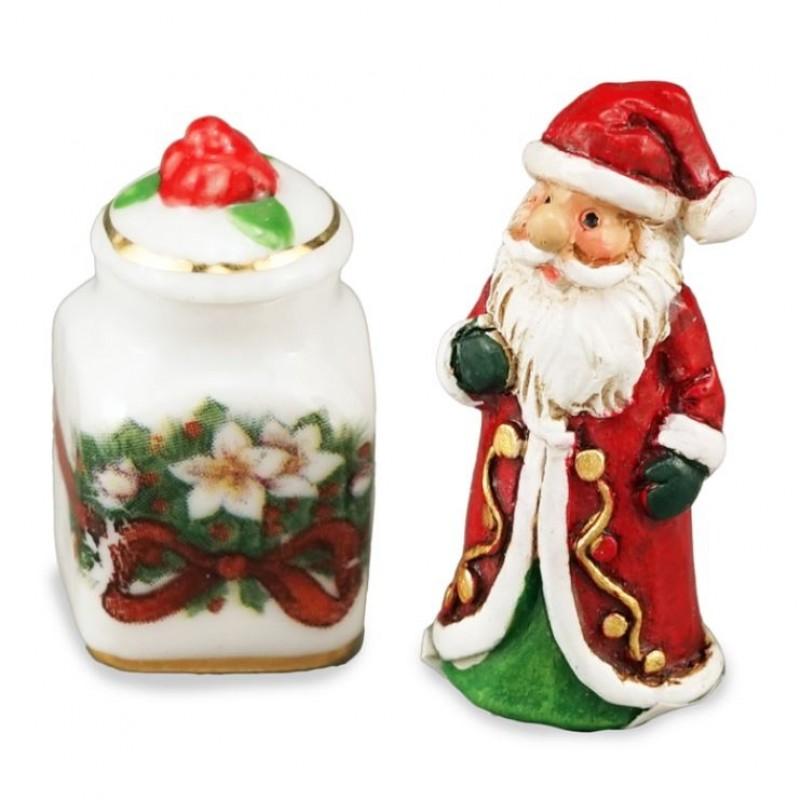 Small Santa Claus with Jar