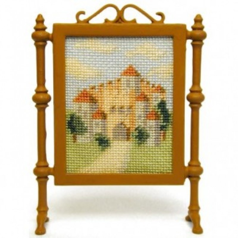 Bavarian Castle dolls' house needlepoint firescreen kit