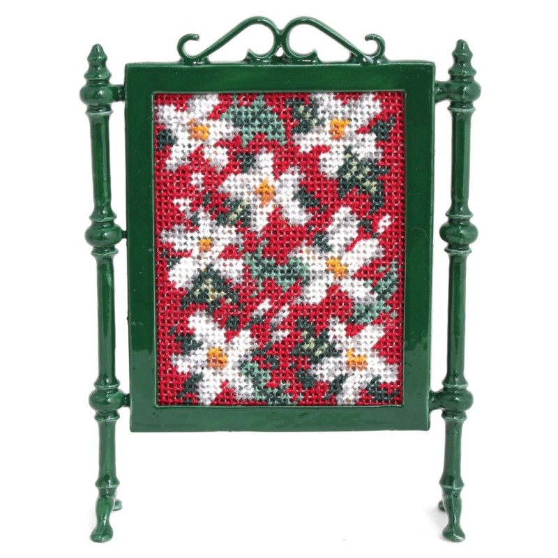 Winter Dollhouse Needlepoint Firescreen Kit