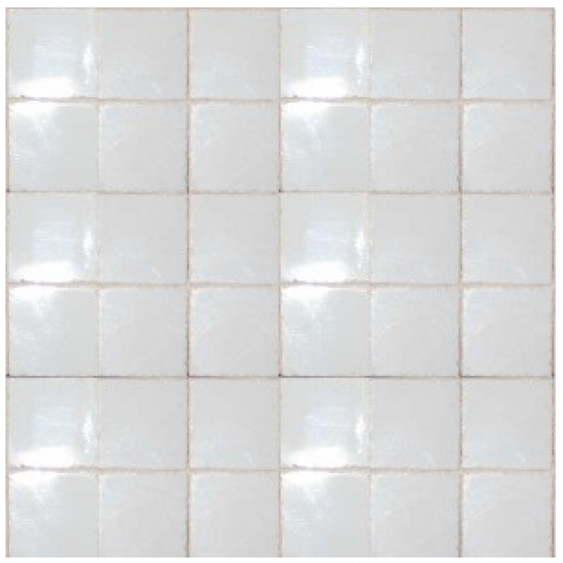 3/8inch Clouded White Ceramic Tiles, 80 Pack