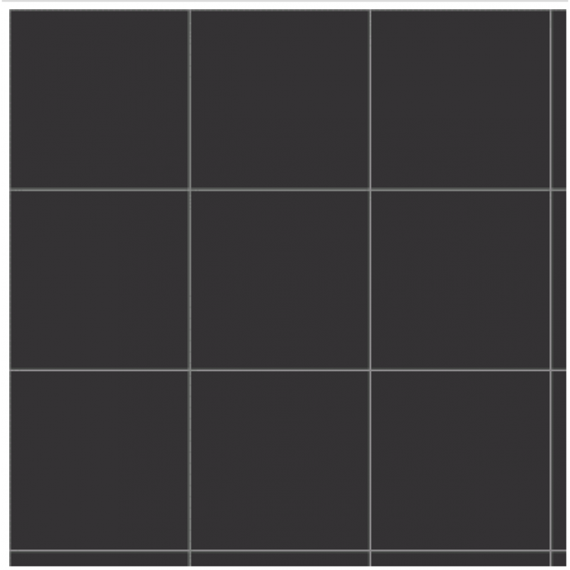 "3/4"" Dark Grey Vinyl Tiles, 50 Pack"