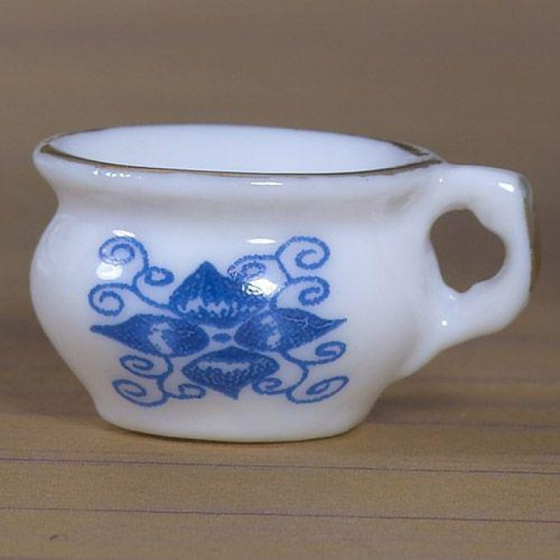 White and Blue Chamber Pot