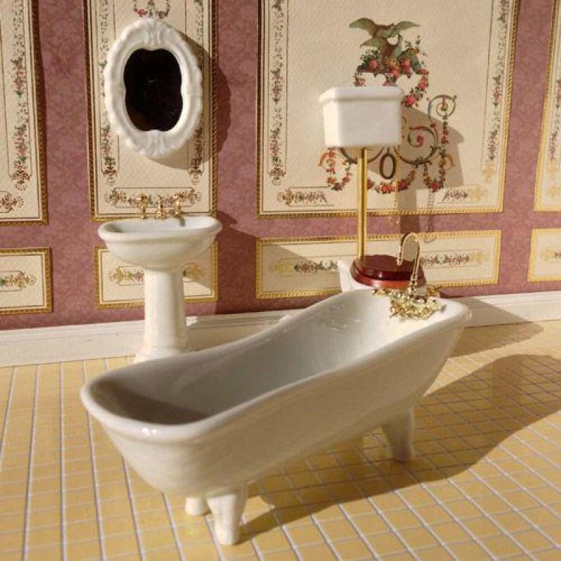 White Classic Bathroom, 4 Pcs