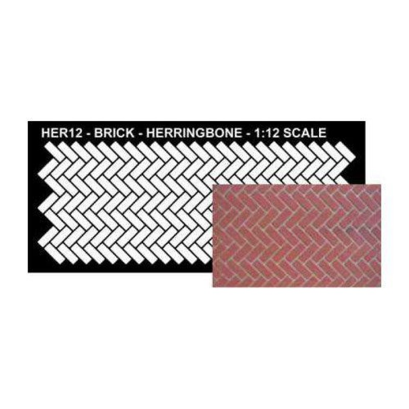 Herringbone Pattern Stencil 145 x 300mm