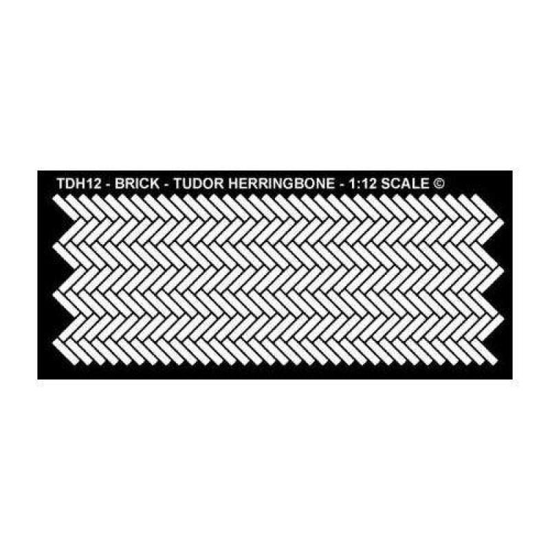 Tudor Herringbone Pattern Stencil 120 x 280mm
