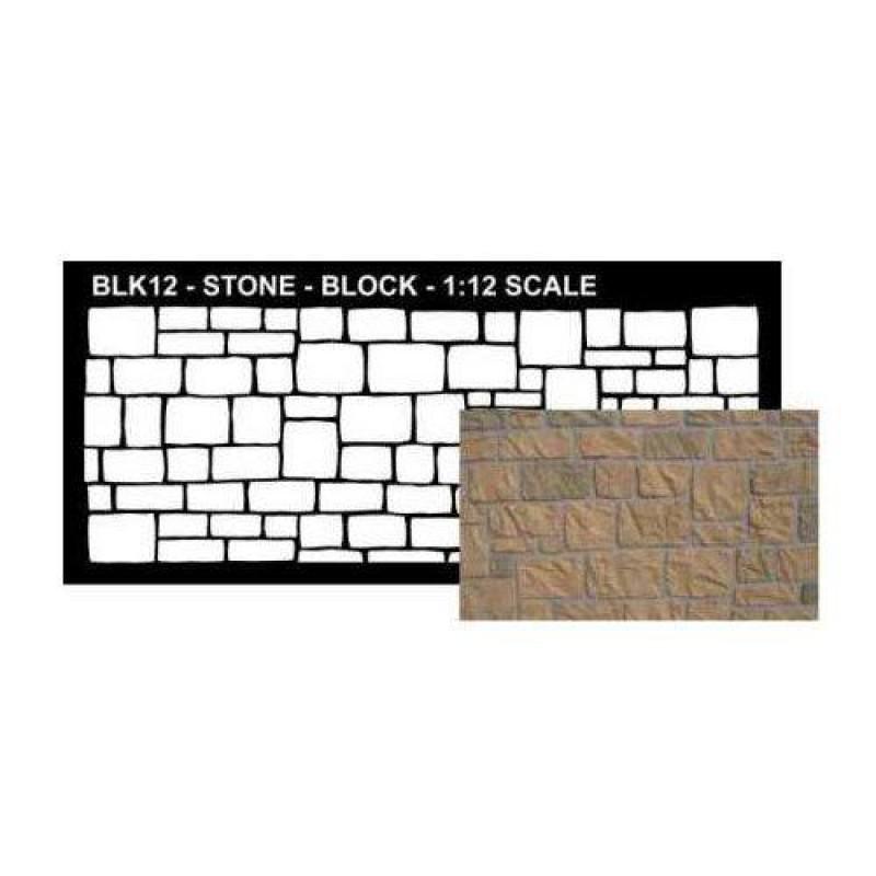 Stone Block Stencil 145 x 300mm