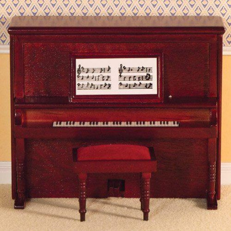 Victorian Upright Piano & Stool (M)