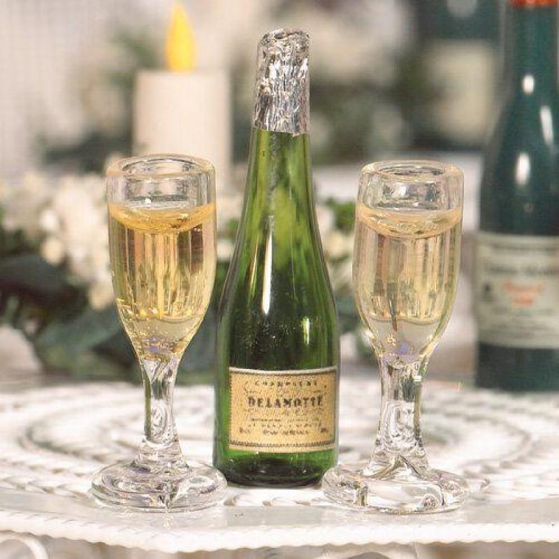 Champagne & Flutes, 3 pcs