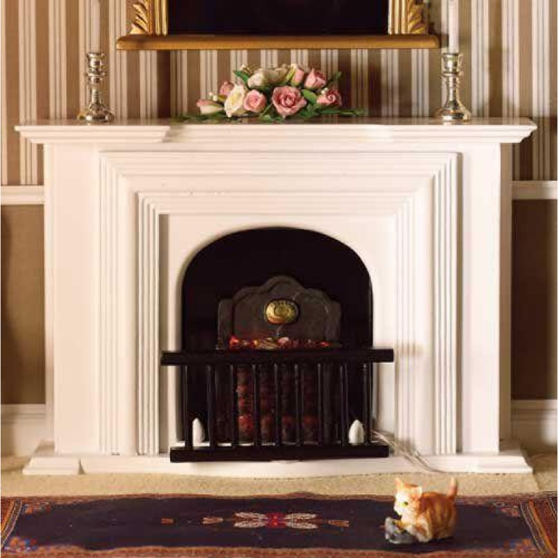 White Georgian Fireplace