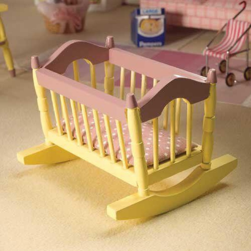 Cream & Pink Cradle & Pink Mattress