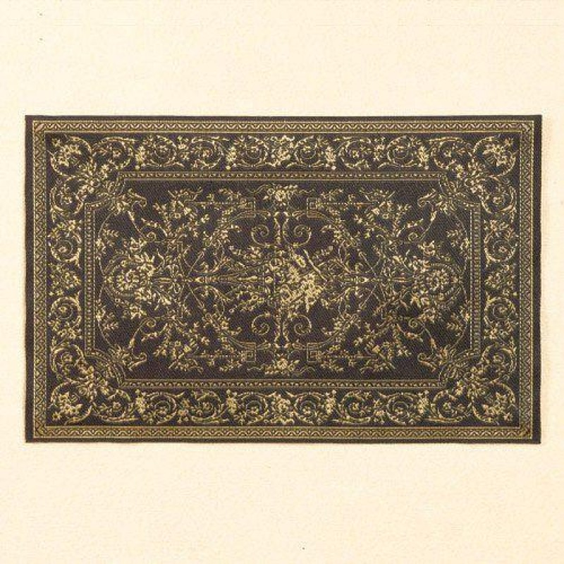 Georgian Ebony & Gold Rug 178 x 111mm