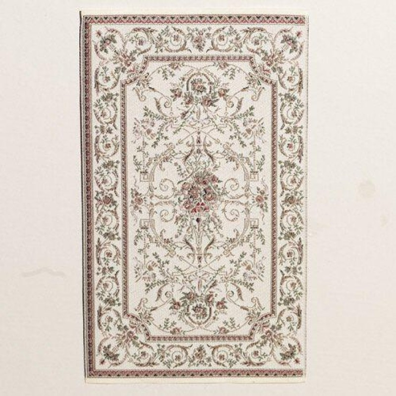 Georgian Style Cream Rug 180 x 111mm