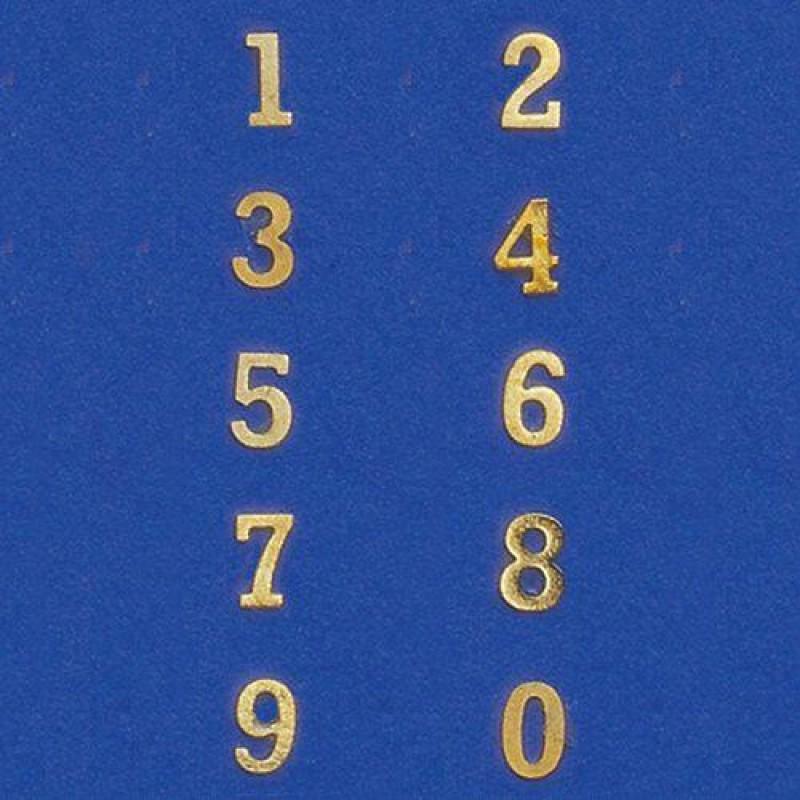Brass Number Set, 10 pieces